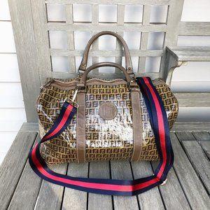 Fendi Vintage Patent Leather Travel Shoulder Bag
